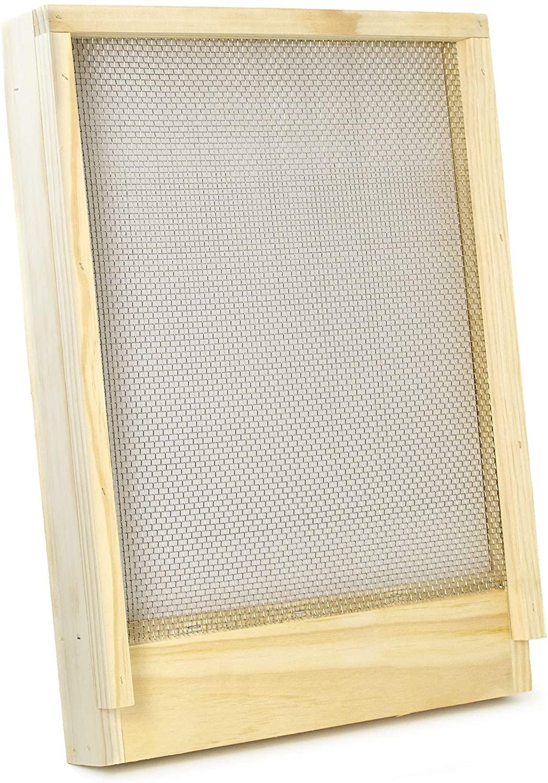 VIVO Screened Bottom Board Frame for Langstroth Beehive, Beekeeping Hive Screen Tool (BEE-HV00SC)