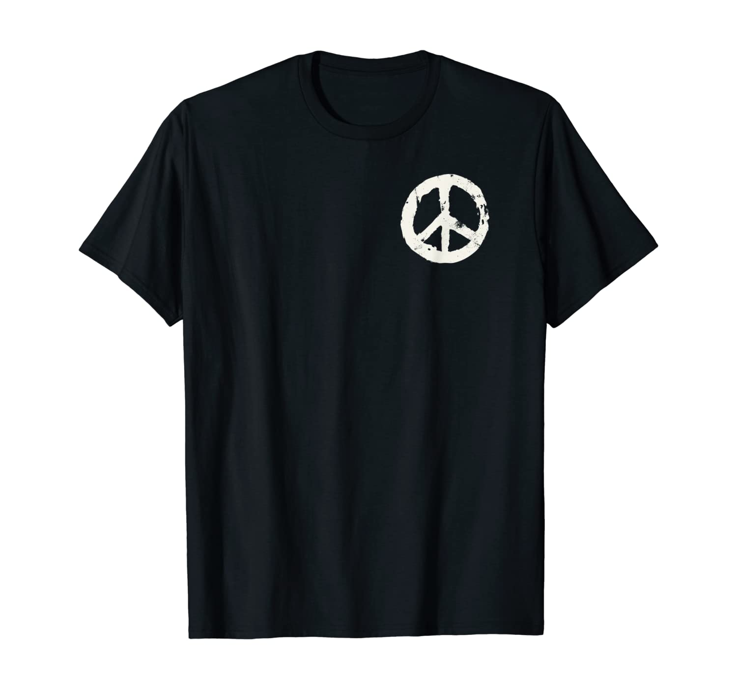 Hippie shirt Hippie symbol print on pocket t shirt gift idea