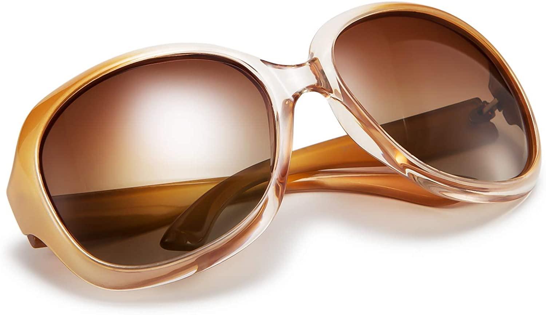FEISEDY Fashion Oversized Polarized Women Sunglasses TAC Lenses Vintage Big Frame Sun Glasses B2434