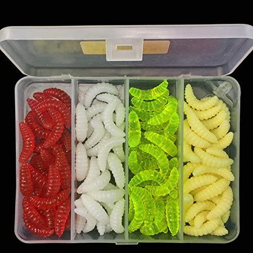 OriGlam 100pcs Fresh Water Fishing Bait, Soft Plastic Worms, Bass Fishing Worms, Soft Bait Shad Fishing Lure, Soft Fishing Lures, Plastic Fishing Bait Worm Baits