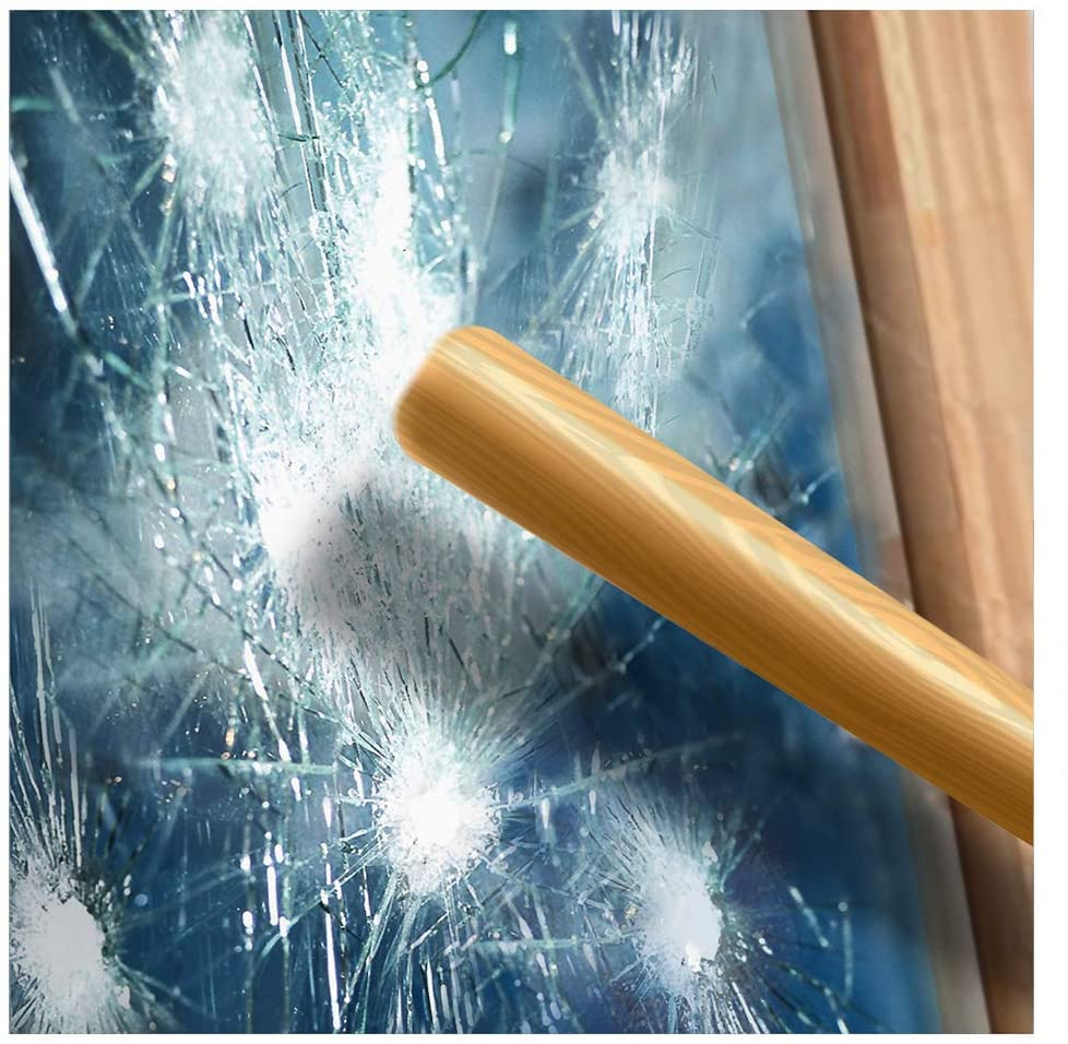 BDF S4MB50 Window Film Security and Sun Control 4 Mil Black 50 (Light) - 24in X 25ft