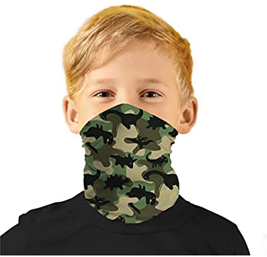 1PCS Bandanas Kids Reusable Printed Breathable Funny Fashion Neck Washable Cloth Fabric Face_Mask Headscarf