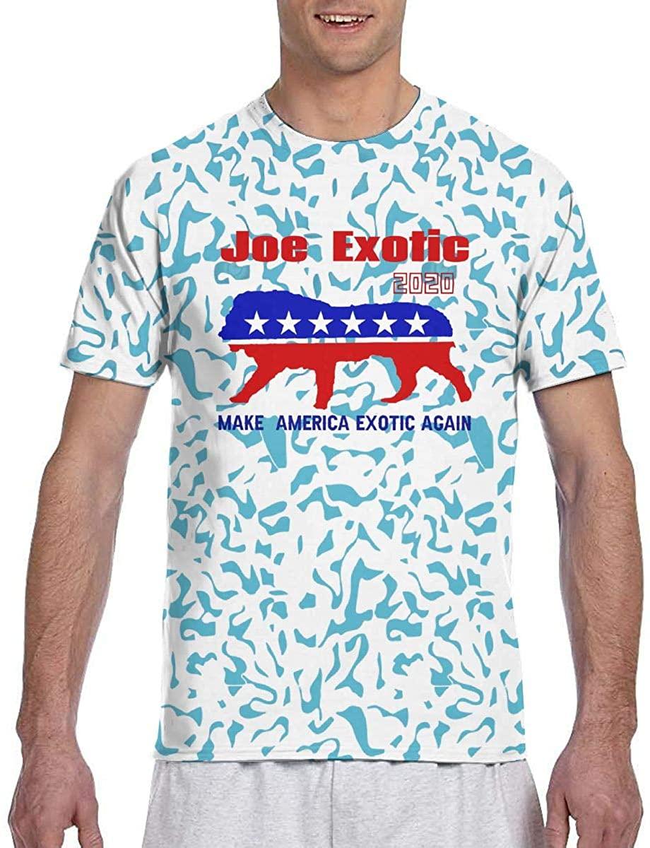 HZIJUE Joe Exotic with Tiger King Big Cat Netflix Series Fans T Shirt