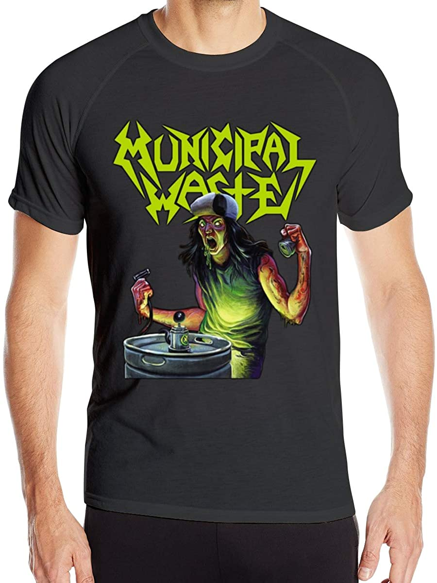 Seuriamin Man Wicking t-Shirt Logo of Municipal Waste The Art of Partying Round Necks Short Sleeves t-Shirts