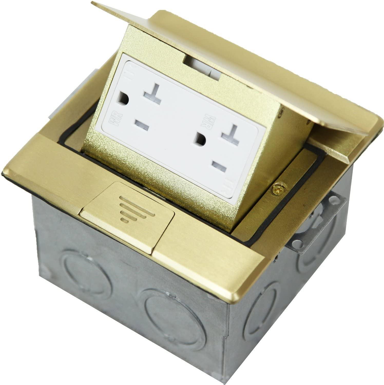 ENERLITES Square Pop-Up Floor Box Kit, 4.75