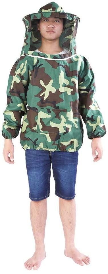 Eastbuy Beekeeping Jacket - Professional Beekeeper Jacket Suit, Beekeeping Protective Equipment ,with Hooded Veil