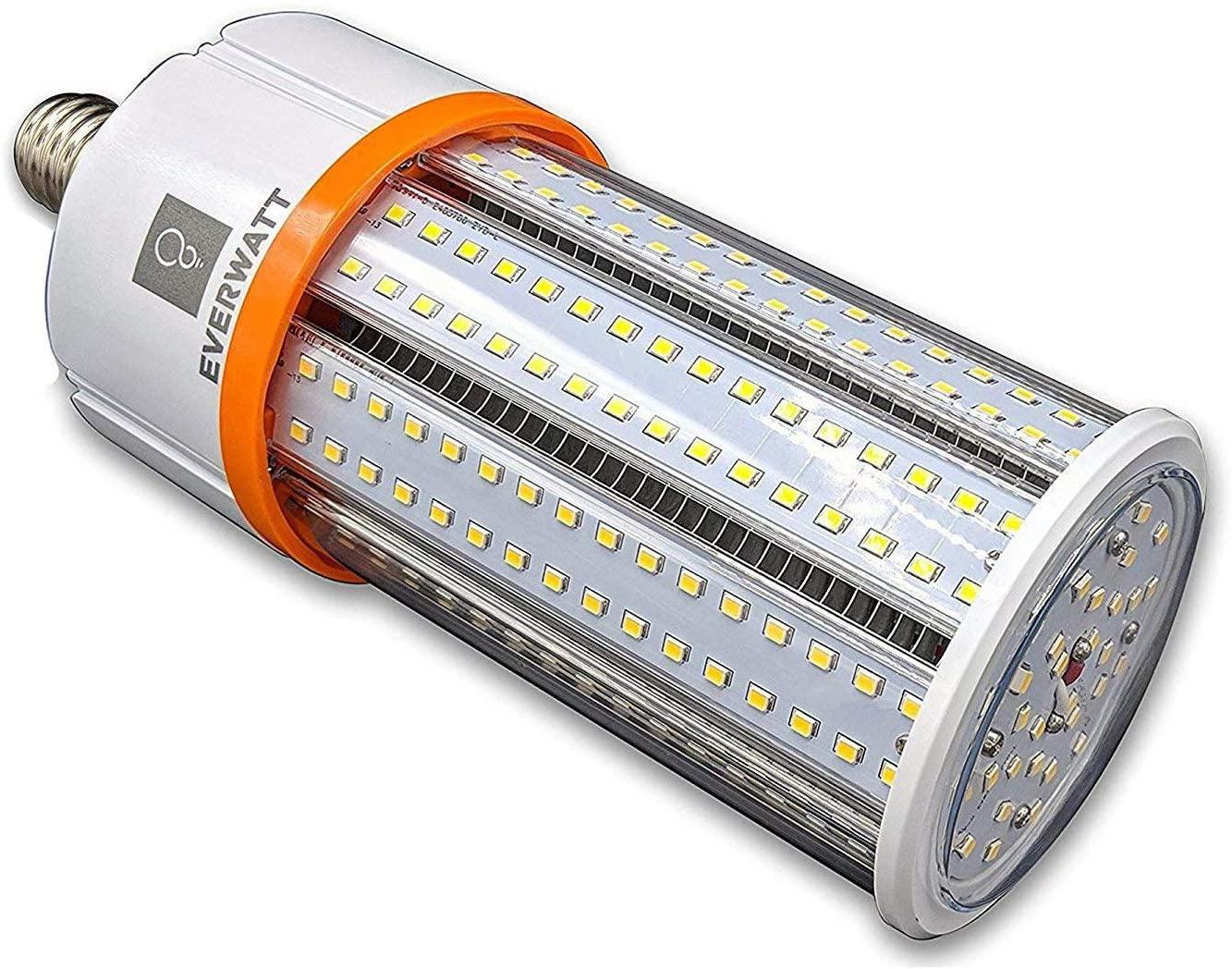 40W (200W Metal Halide Equiv) LED Corn Light Bulb, Standard E26 Base, 5479 LMS, 4000K, IP64 Waterproof, Indoor/Outdoor Area Light, Replaces MH, HID, CFL, HPS