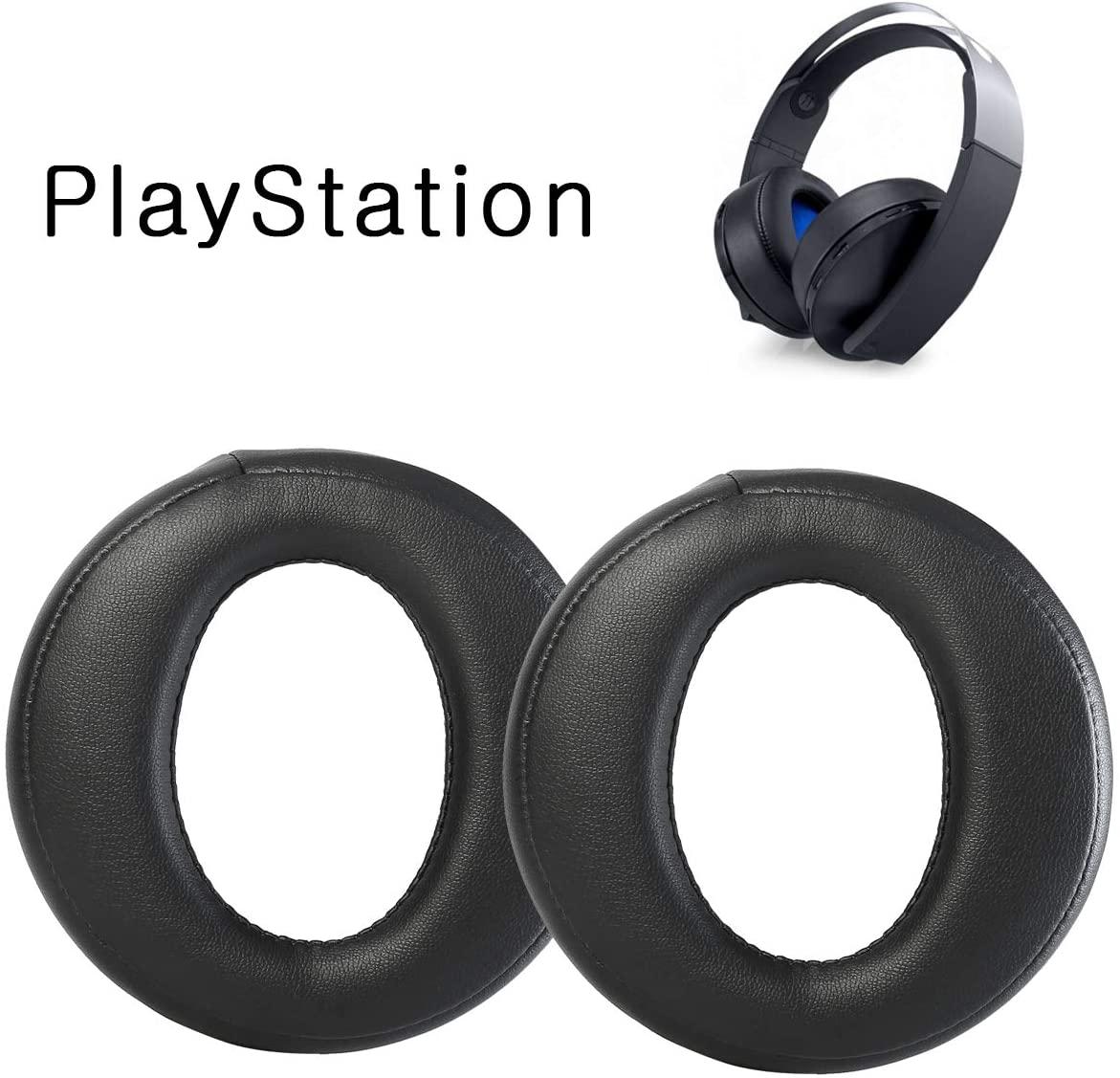 JEWAYTEC Replacement Earpads/Ear Cushion/Ear Cover for Sony Plastation PS4 Golden Wireless Headsets CECHYA-0083 7.1 Headphones-Black
