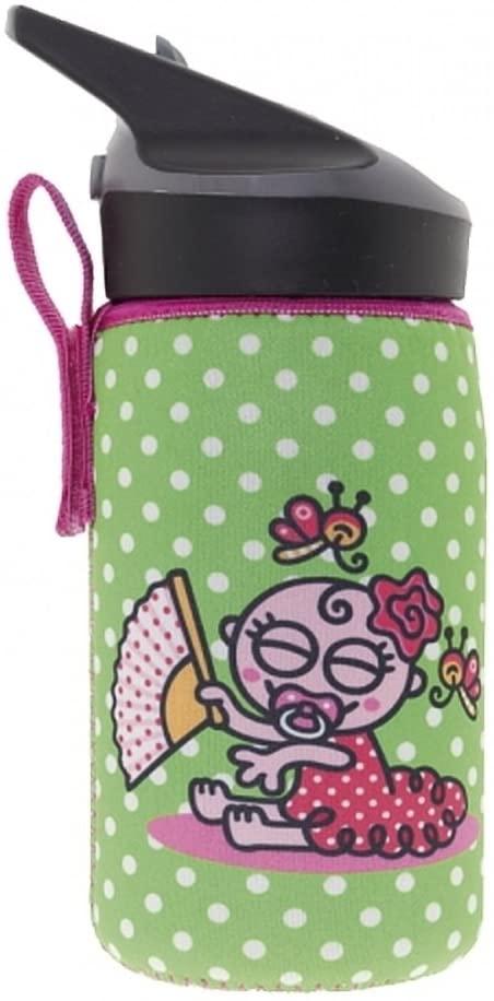 Laken Thermo Jannu Kids Insulated Water Bottle 12oz Straw Cap with Neoprene Cover Katuki Saguyaki