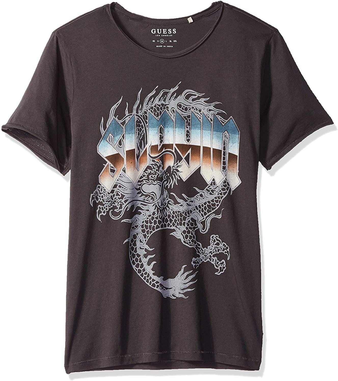 GUESS Mens Slayin Graphic T-Shirt