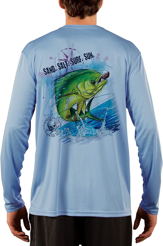 SAND.SALT.SURF.SUN. Dorado Men's UPF 50+ UV Sun Protection Performance Long Sleeve T-Shirt