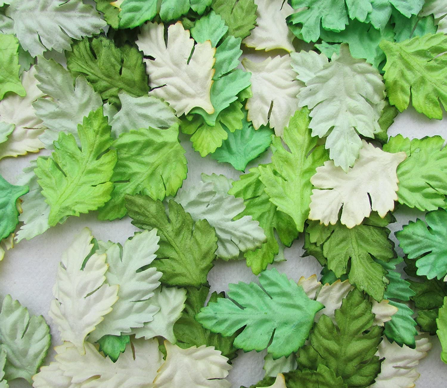 100 pcs Patch Green Leaves 37x23 mm Mulberry Paper Scrapbooking Wedding Doll House Supplies Card,Artificial Leave Products from Thailand