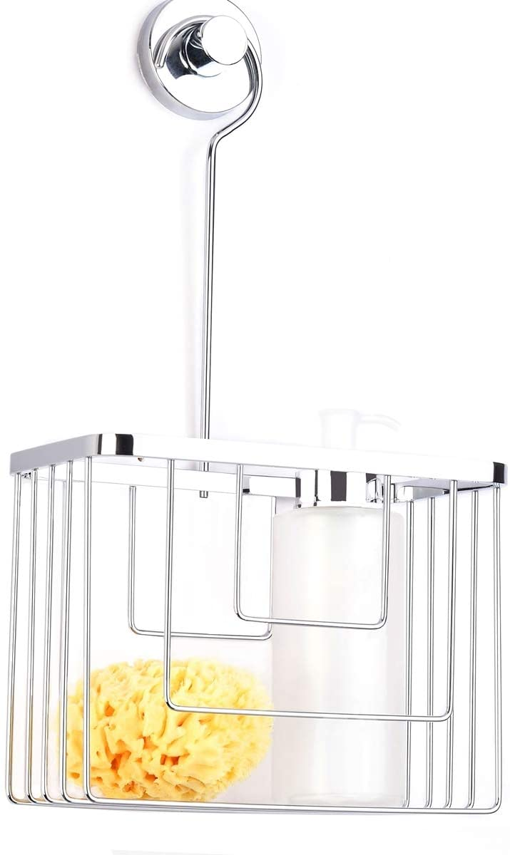 Shower Basket Caddy Hanging over shower head