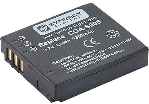 Synergy Digital Camera Battery, Works with Panasonic Lumix DMC-LX3 Digital Camera, (li-ion, 3.7V, 1300 mAh) Ultra Hi-Capacity, Compatible with Panasonic CGA-S005 Battery