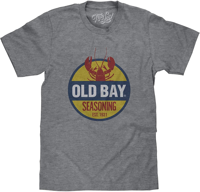 Tee Luv Old Bay Seasoning T-Shirt - Licensed Old Bay Lobster Logo Shirt