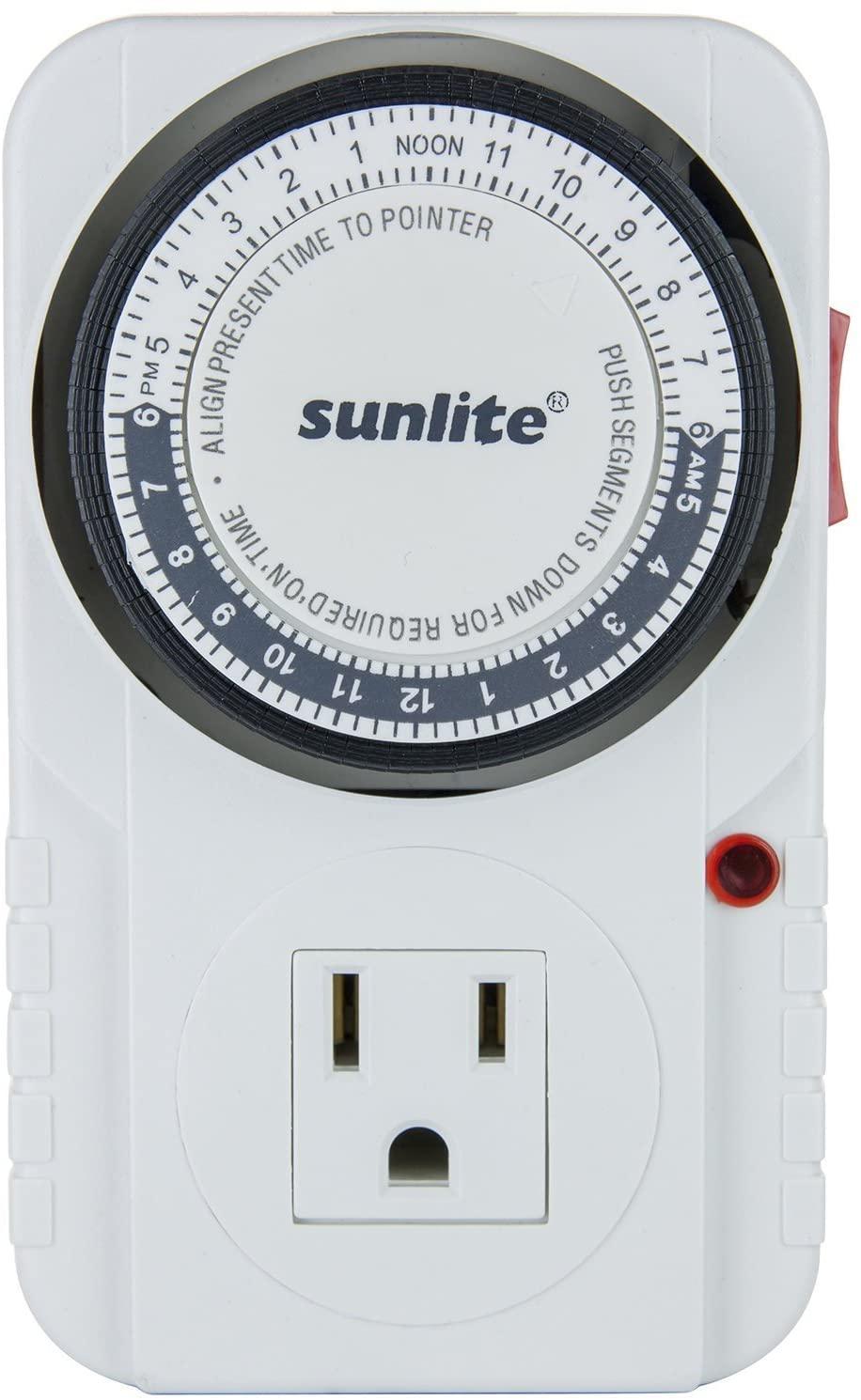 Sunlite 05003-SU T200 24 Hour Heavy Duty Appliance Timer (2 Pack)