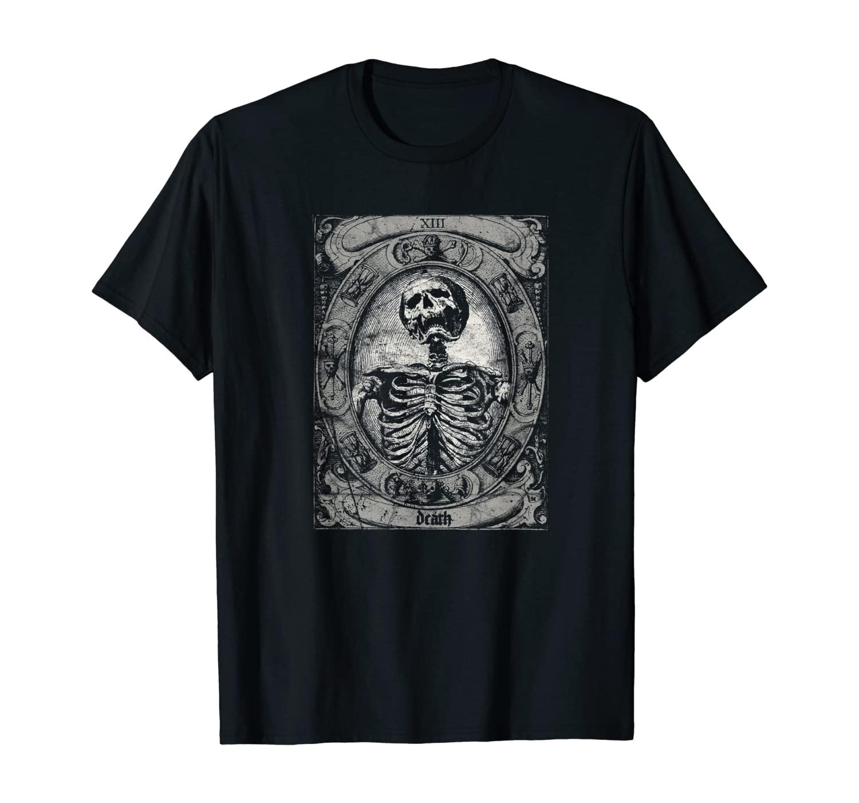 Vintage Occult The Death Tarot Card Satan Horror Grunge T-Shirt