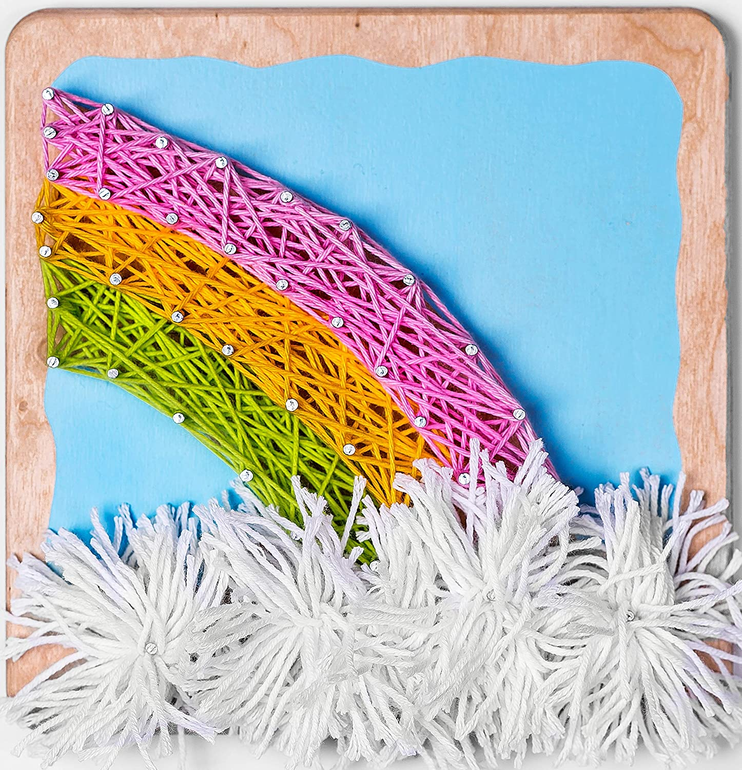 Fornel String Art Kit Rainbow - Bigger Size Canvas - Colored DIY Rainbow Art String Crafts for Girls Kids Teens Ages 8-15