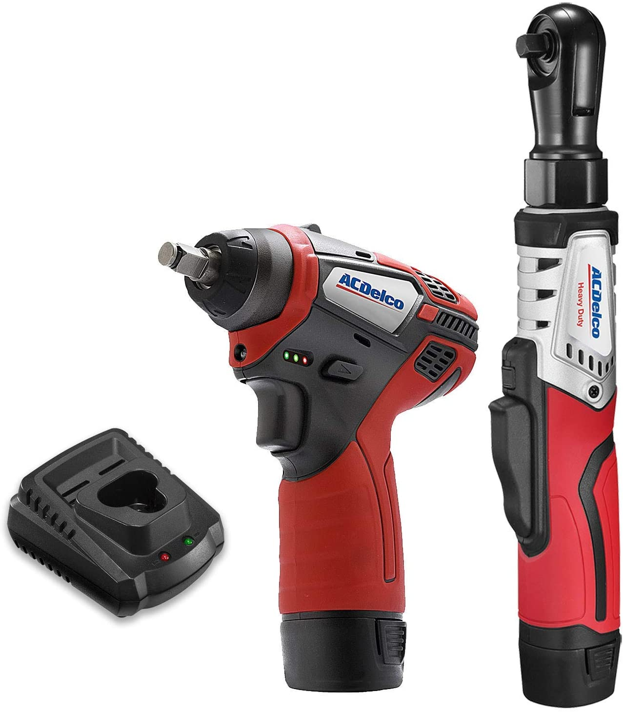"ACDelco ARW12103-K1 G12 Series 12V Cordless Li-ion 3/8"" Brushless Rachet Wrench & Impact Wrench Combo Tool Kit with 2 Batteries"