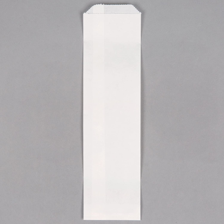 100 White Disposable Silverware Bags