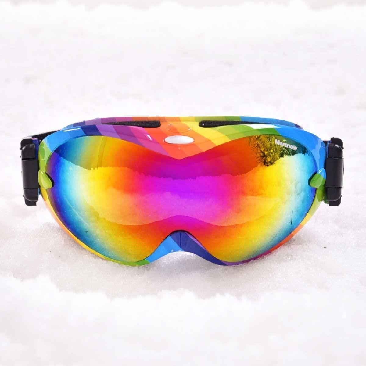 TRIWONDER Ski Goggles - Over Glasses Ski/Snowboard Goggles for Men & Women with UV Protection, Windproof, Anti Glare