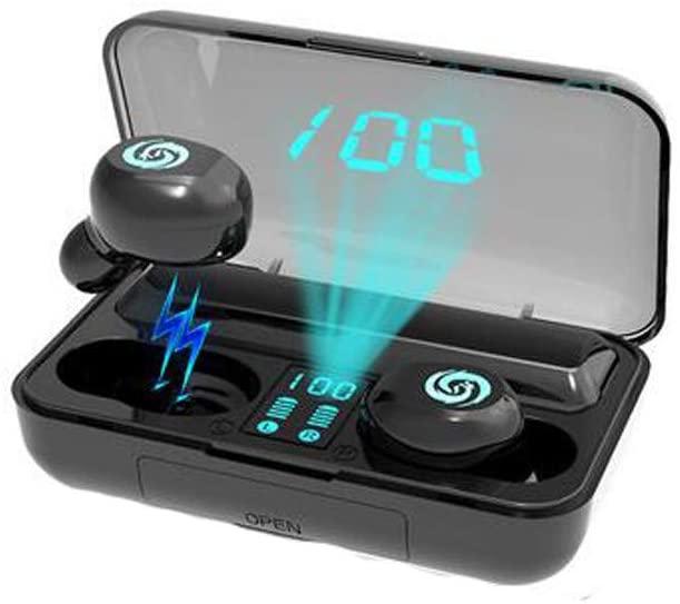 Wireless Earbuds, Bluetooth 5.0 8D Stereo Sound Hi-Fi Headphones with 2000mAh LED Charging Case, TWS in-Ear Binaural Calls Headset 66H Playtime, IPX7 Waterproof Earphones, Noise Canceling w/Mic