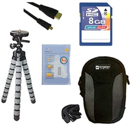 Panasonic Lumix DMC-LF1 Digital Camera Accessory Kit Includes: KSD48GB Memory Card, SDC-22 Case, HDMI6FMC AV & HDMI Cable, ZELCKSG Care & Cleaning, GP-22 Tripod