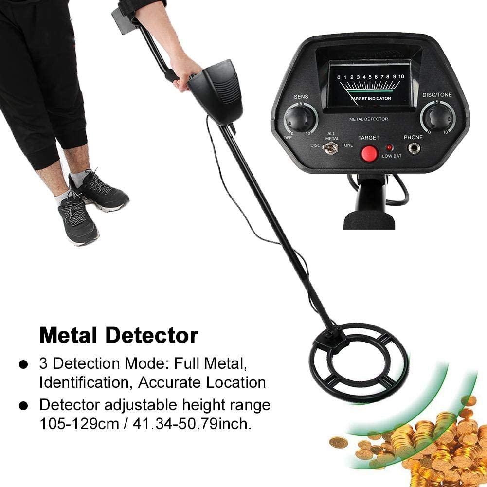 Underground Detector, MD-3032 Handheld Metal Detector Underground Treasure Scanner Finder Tool, Adjustable Sensitivity and Height