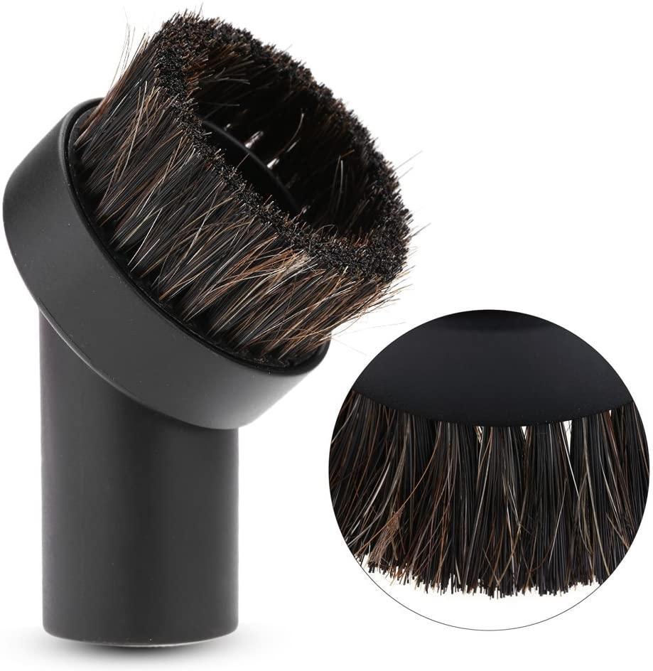 Horsehair Brush - Delaman Round Vacuum Cleaner Accessory Horsehair Brush Floor Dust Remover Brush Head 32mm