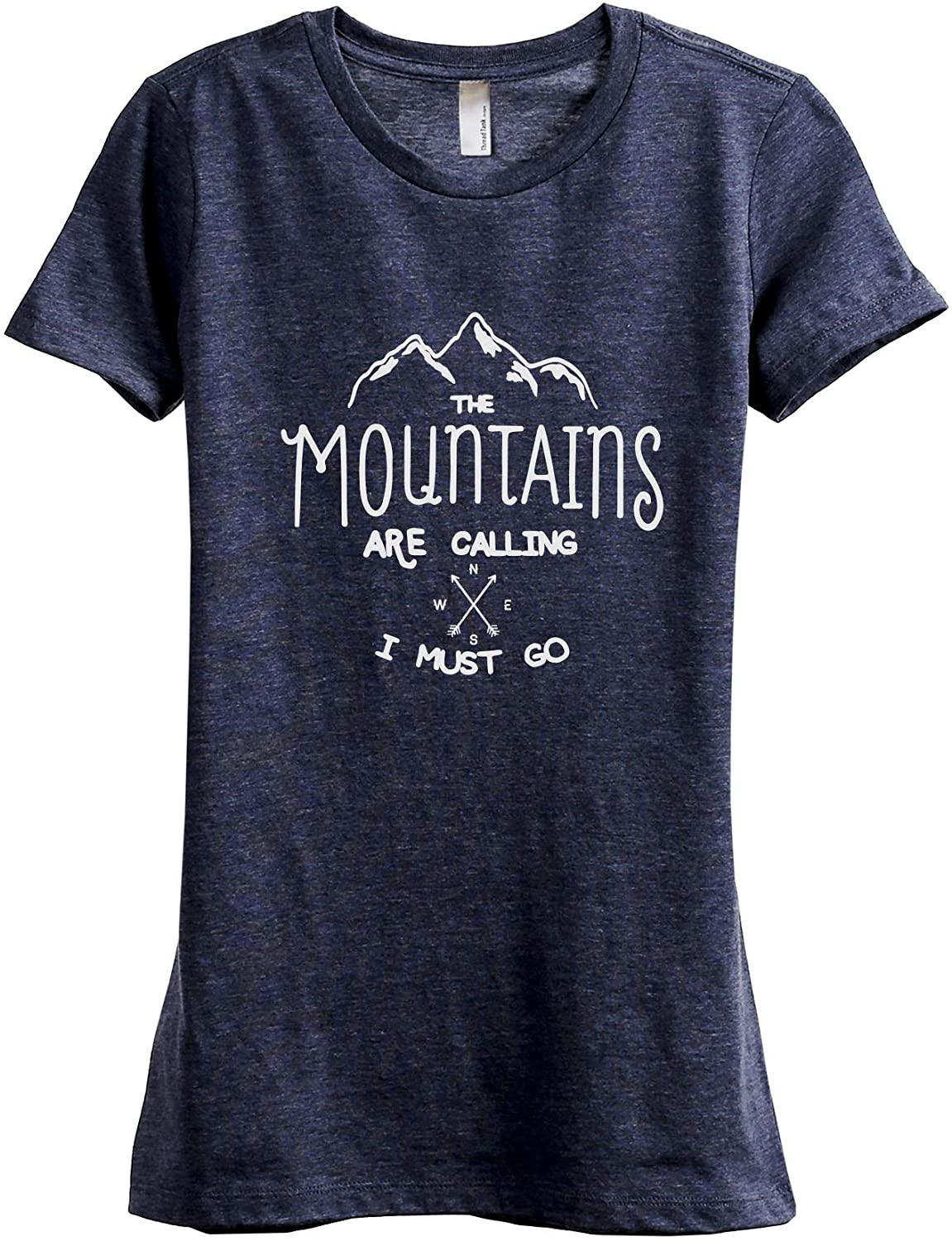 The Mountains are Calling I Must Go Women's Fashion Relaxed T-Shirt Tee