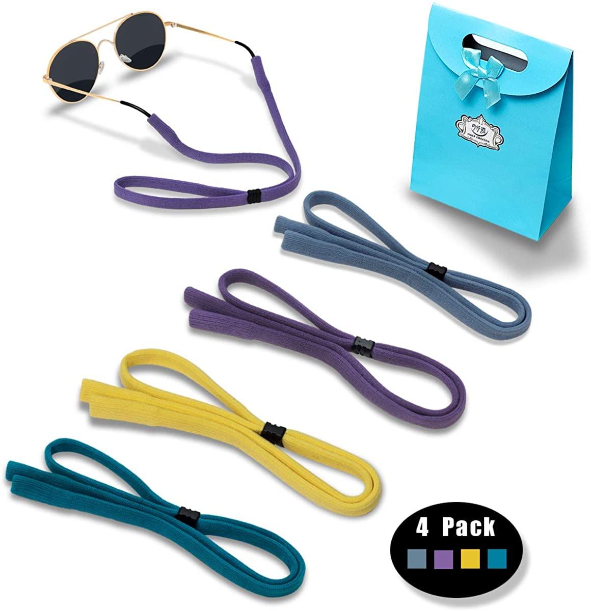 Original (elastic nylon/spandex) Standard End Glasses Straps, Sports Adjustable Eyewear Retainer for Men Women
