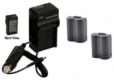 Two 2 Batteries + Charger for Panasonic DMC-FZ18, Panasonic DMC-FZ18K, Panasonic DMC-FZ18S, Panasonic DMC-FZ28