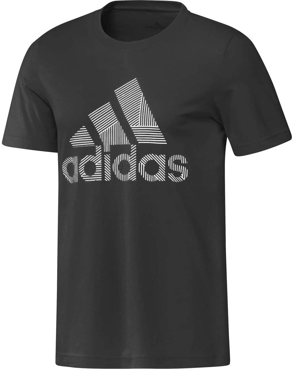 adidas Mens Athletic Shirts Black (Black, XX-Large)