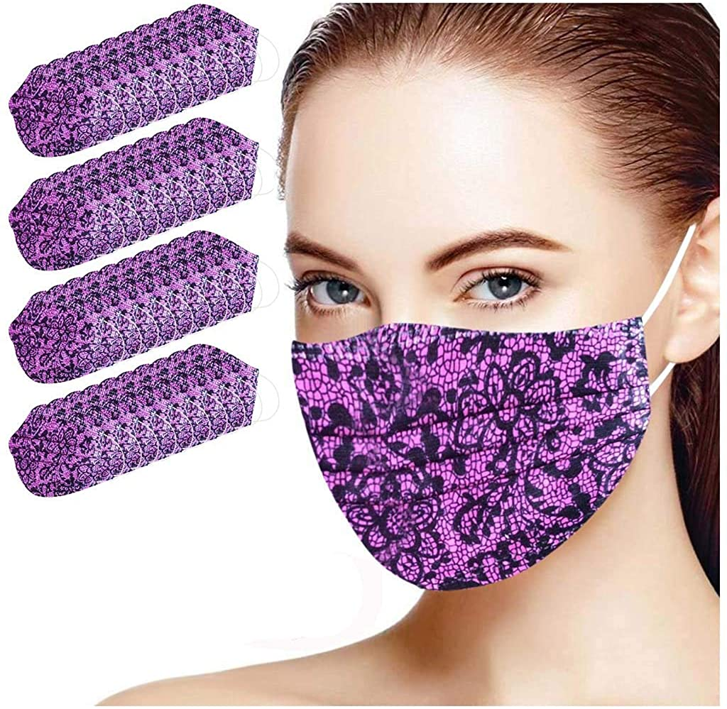 Adults Disposable Face_Mask,Cloth Covering,No Washable, Lightweight Breathable and Anti-Haze Dust Mouth Guards Balaclava