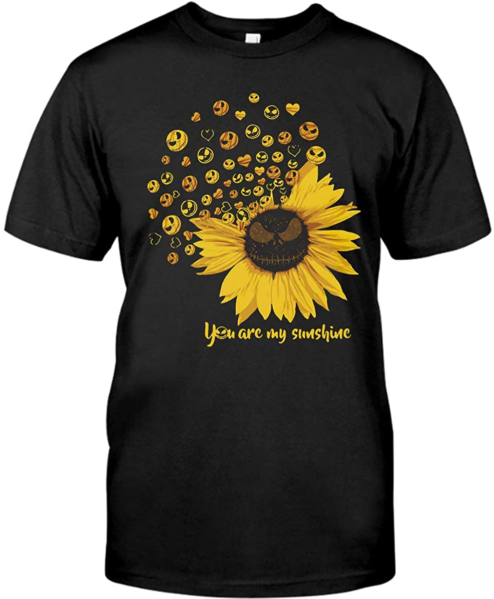 Jack-Skellington-Sunflower You are My Sunshine Shirt Gildan Short-Sleeve T-Shirt