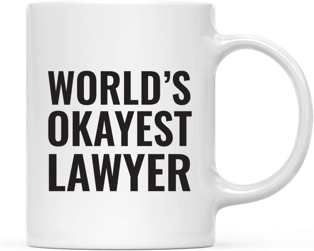 Andaz Press 11oz. Coffee Mug Gag Gift, World's Okayest Lawyer, 1-Pack