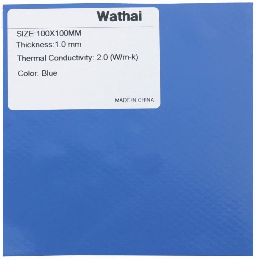 Wathai Soft Thermal Pad 100x100x1mm 2.0 W/mk Thermal Conductivity Silicone Pad