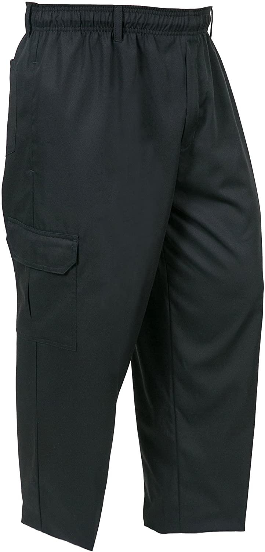 Mercer Culinary M61090BK3X Genesis Men's Chef Cargo Pant, 3X-Large, Black