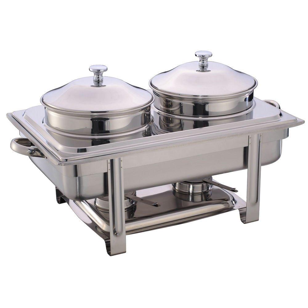 HUBERT Soup Server Full Size 9 1/2 Quart Stainless Steel - 2 2/5