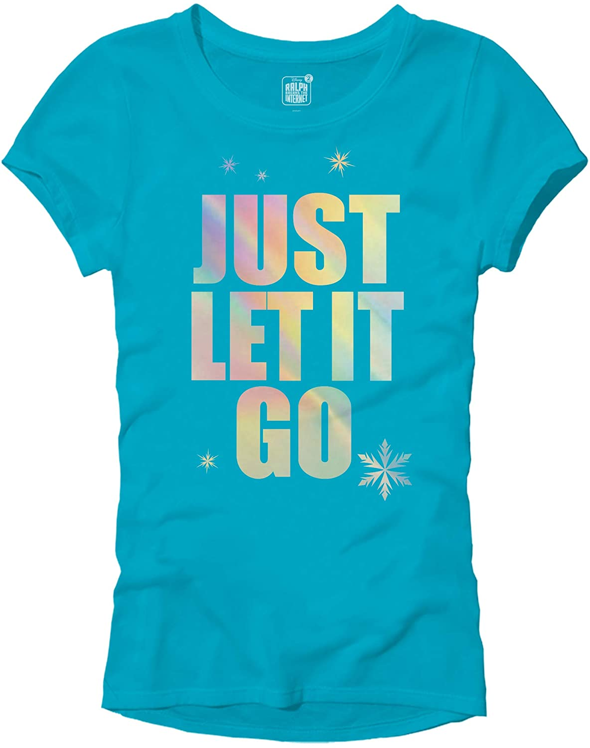 Disney Frozen Elsa Just Let It Go Comfy Princess Disneyland World Tee Funny Women's Graphic Juniors T-Shirt