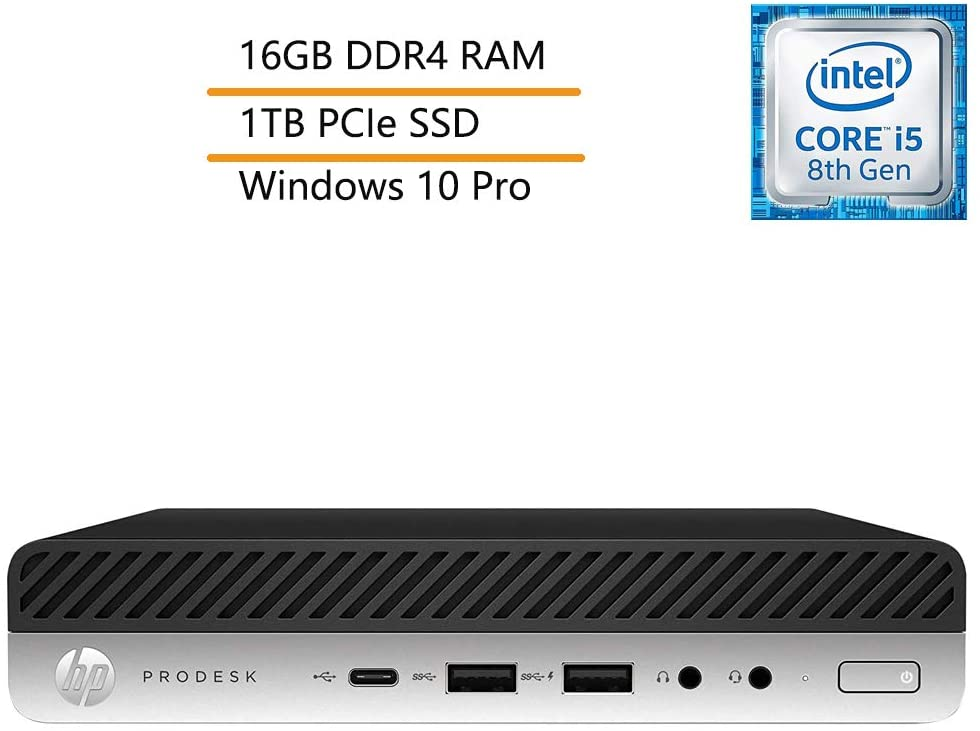 HP ProDesk 600 G4 Business Mini Desktop Computer, Intel Hexa-Core i5-8600T up to 3.7GHz (Beats i7-7700K) with UHD Graphics 630, 16GB DDR4 RAM, 1TB PCIe SSD, Windows 10 Pro, iPuzzle Extension DVD