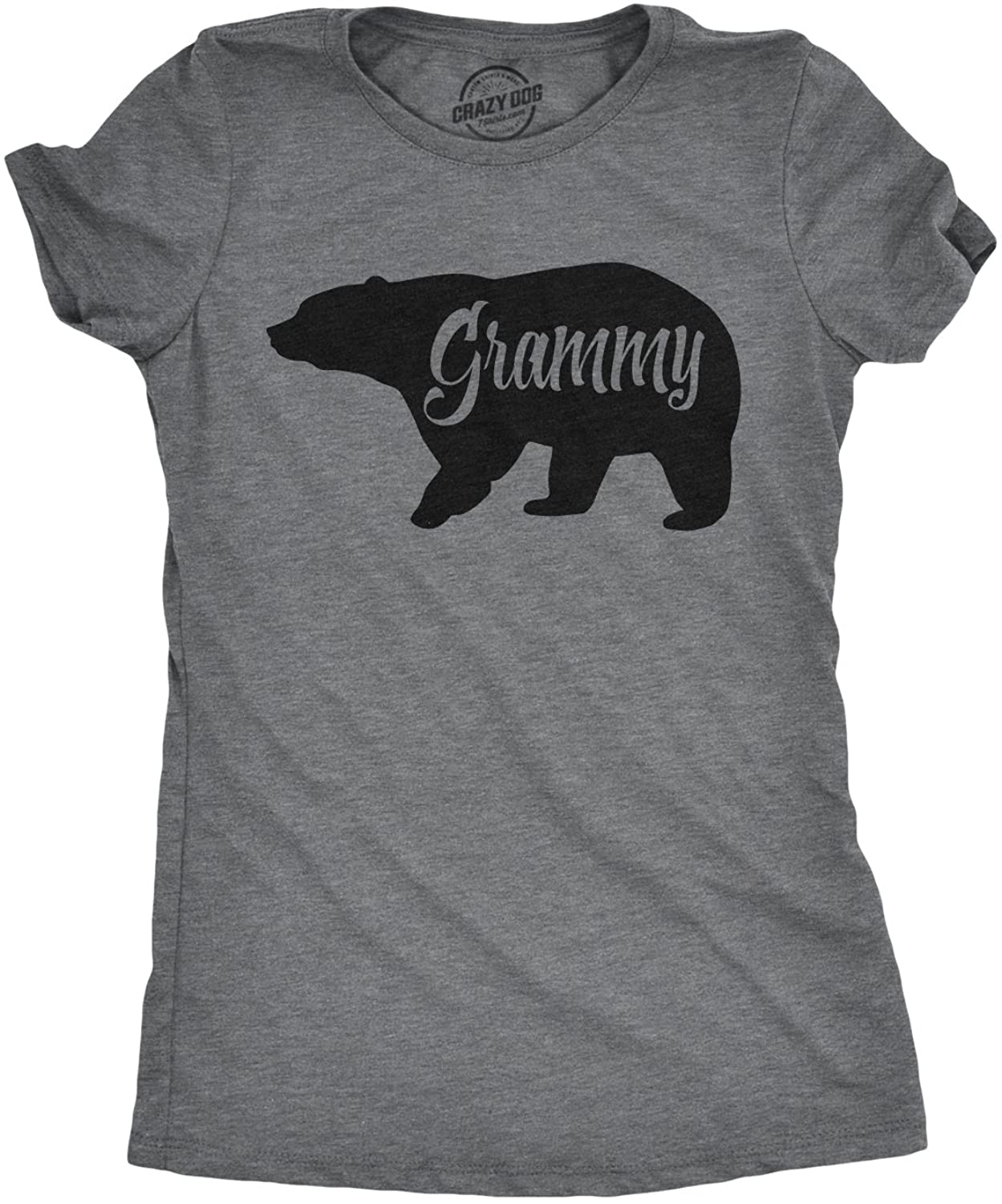 Womens Grammy Bear T Shirt Cute Family Matching Funny Cool Graphic Grandma Tee