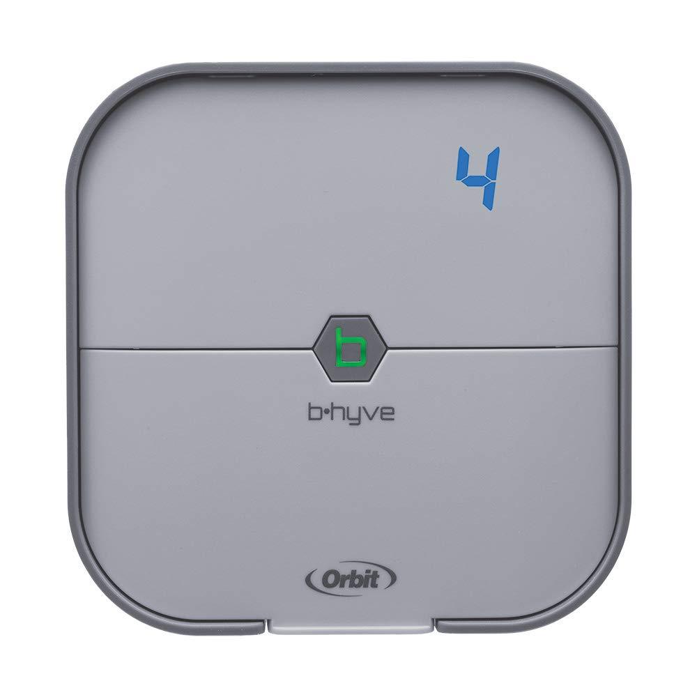 Orbit B-hyve 4-Zone Smart Indoor Sprinkler Controller, Gray, Model Number: 57915