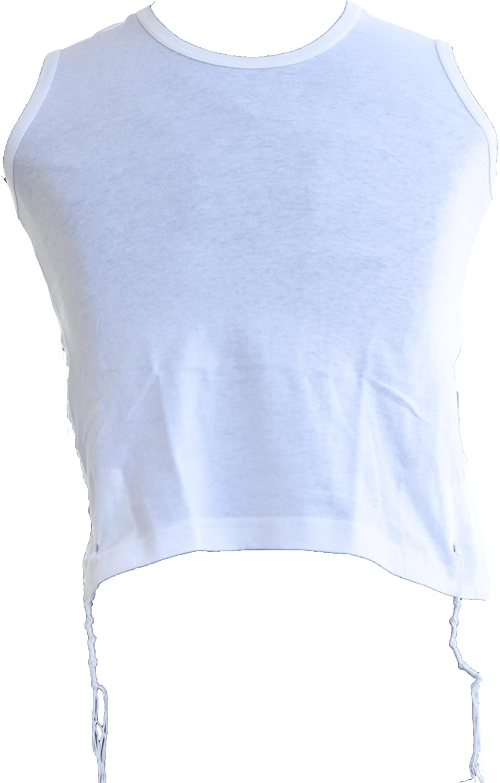 Jerusalem Tzizit 100% Cotton Kosher Tzitzit for Mens Tzizit Size Xtra Large XL White