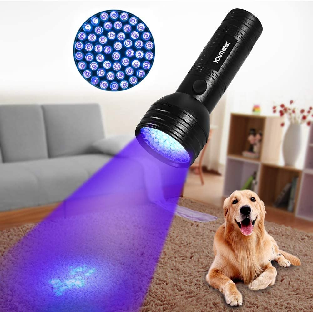 Topzon Pet Urine Detector Light - Pet Urine Detector Light Handheld UV Black Light Flashlight Portable Dog Cat Urine Carpet Detec