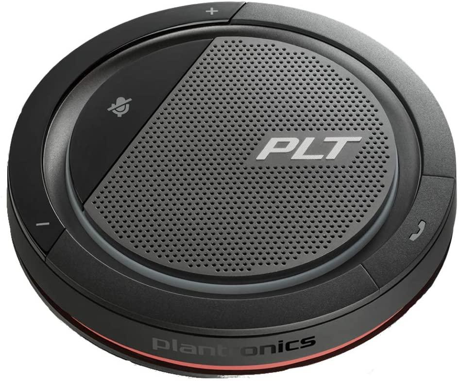 Plantronics Calisto 5200 Portable Personal Speakerphone with 360˚ Audio & Dual Connectivity (USB-C & 3.5mm Jack Connectivity)