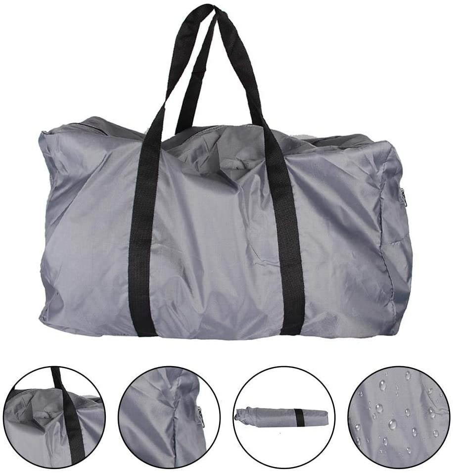 BAYUE Large Storage Bag, Convenient Foldable Kayak Carrying Bag, Inflatable Boat Accessories Storage Bag, Handbag Accessory for Canoeing Inflatable Boat Gray(Gray)