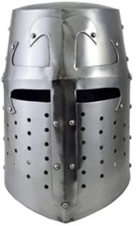 AnNafi Crusader Armor Helmet Templar Knight |Antique Helmet| Mens Combat Wearable Free-Size Helm