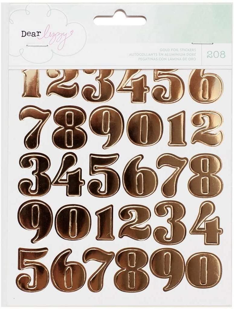 American Crafts 370094 Dear Lizzy Fine and Dandy Sticker Book Gold Foil - 4-Pack