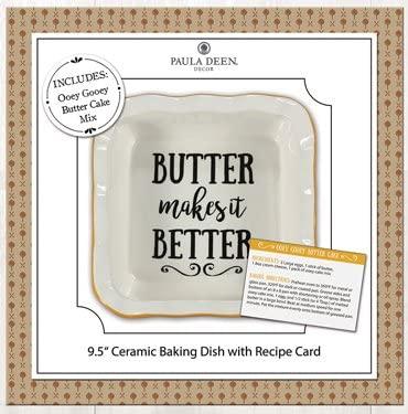 Young's Paula Deen Recipe Ceramic Dish (Butter Cake Mix)